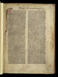 Illuminated Initial And Ownership Inscription, In Glossed Gospels Of Matthew And Mark